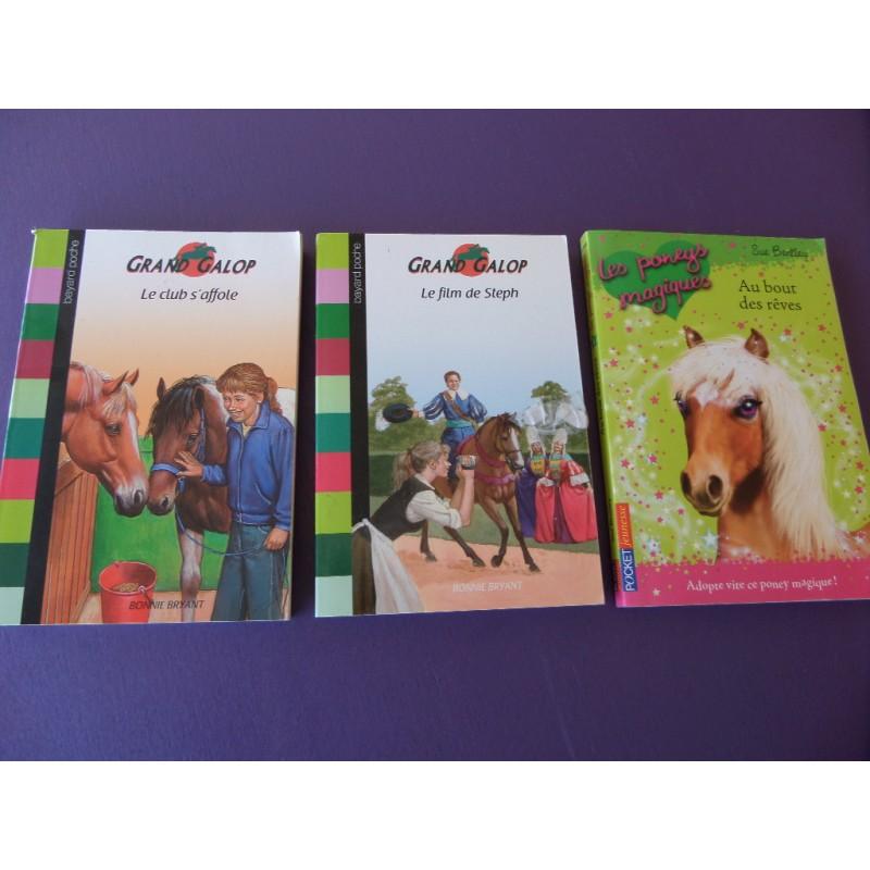 2 tomes de grand galop les poneys magiques