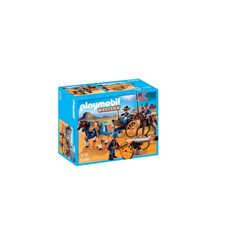 Neuf soldats am ricains avec canon de playmobil jeu de for Prix construction neuf