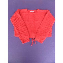 Pull oversize laçage dos May fille taille 14 ans