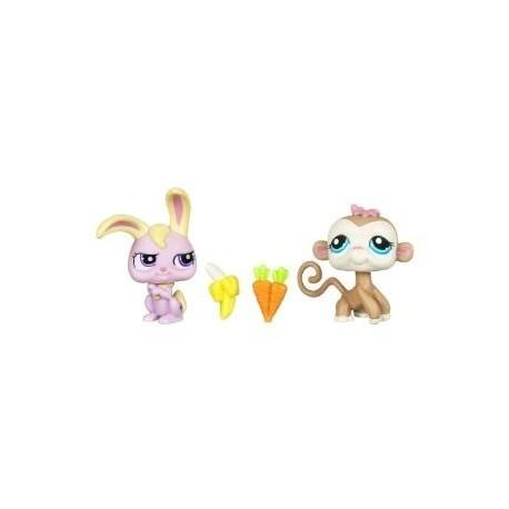 Petshop duo ou avec accessoire singe et lapin de hasbro - Petshop singe ...