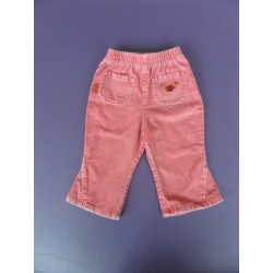Pantalon velours rose 1 an
