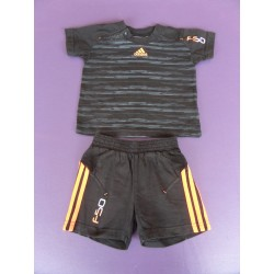 Minikit Maillot Short Adidas Noir/orange 6 mois