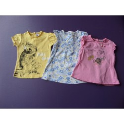 Lot de 3 tee-shirts  fille 1 an