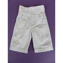 Pantalon popeline taille contrastée 1 mois