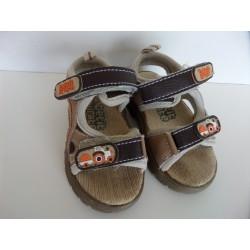 Nu-pieds en cuir contrastés Petit Pirate pointure 19