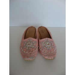 Babouche fille paillettes ROSE pointure 26