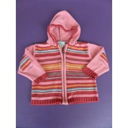 Gilet zippé à capuche O'Kids 9 mois