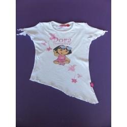 T-shirt fille Dora assymétrique 4 ans