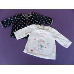 Lot tee-shirts DPAM et Petit Bateau 3 mois