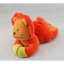 Doudou lion hochet bebeconfort