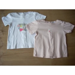 Lot tee-shirts fille 18 mois