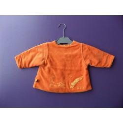 Cardigan réversible velours/jersey Absorba fille 6 mois