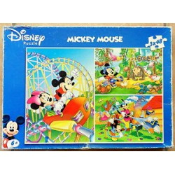 Puzzle disney, mickey mouse, 3 x 48 pièces