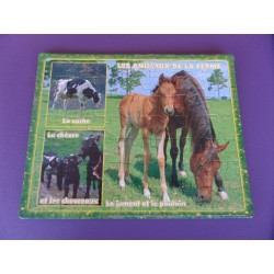 Puzzle 56 pièces Animaux de la ferme