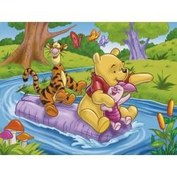 Clementoni, Puzzle Winnie l'Ourson : La Rivière, 60 pièces