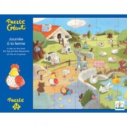 Puzzle géant, une journée à la ferme de Djeco, 24 pièces