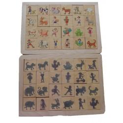 Lot de 2 puzzles Bois les Ombres