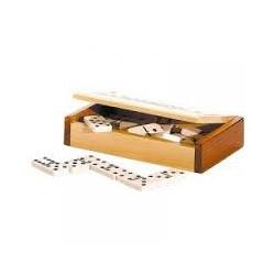 Coffret en bois de dominos, de Yakajou