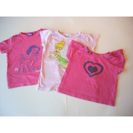 Lot tee-shirts fille 2-3 ans