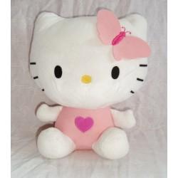 Peluche Hello Kitty Sanrio papillon ailes dans le dos