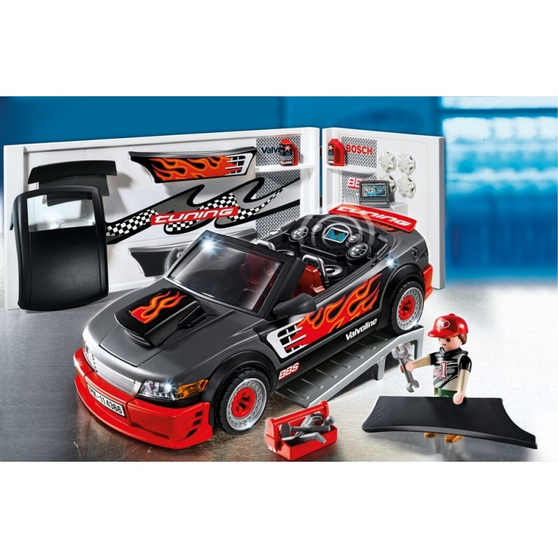 voiture tuning avec effets sonores de playmobil jeu de construction caillou flacoti. Black Bedroom Furniture Sets. Home Design Ideas