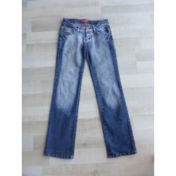 Jeans regular strassé dos 16 ans