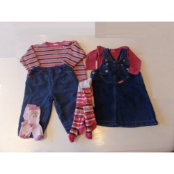 Lot denim fille 1 an