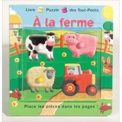 Livre puzzle des tout-petits à la ferme