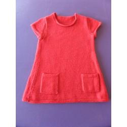 Pull long tricoté main 3 ans