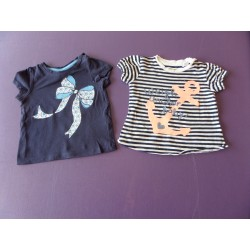 Lot de t.shirts fille 6 mois