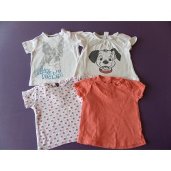 Lot de tee-shirts fille 6 mois