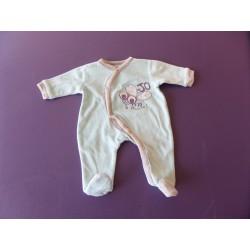 Pyjama velours naissance