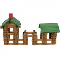 Maison forestière à construire, jouet en bois 150 pièces