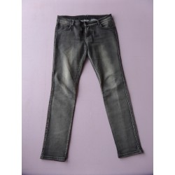 Jean strech noir used strassé taille 42