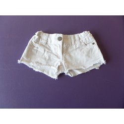Short denim blanc 4 ans
