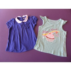 Lot de 2 tops fille 4 ans