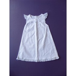 Robe blanche lin et coton 2 ans