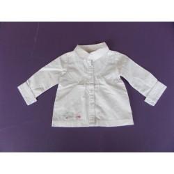 Chemise popeline printée fille 1 an