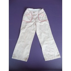 Neuf ! Pantalon toile rose Sergent Major 5 ans