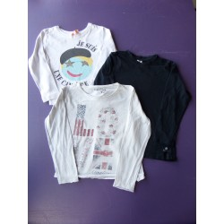 Lot t.shirts printés fille 6 ans