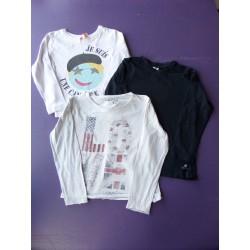 Lot t.shirts printés fille 6 ans