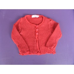 Cardigan maille crochet Clayeux 18 mois