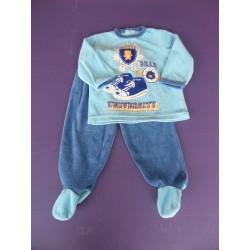 Pyjama 2 pièces velours Campus Bear 1 an