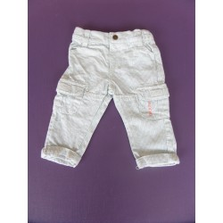 Pantalon coton tissé Brioche 1 mois