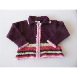 Cardigan maille chenille 2 ans
