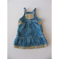 Robe bretelles denim Obaibi 1 an