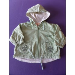 Veste coupe-vent Grenouille fille 1 an