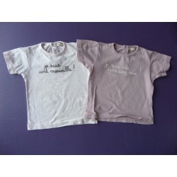 Lot tee-shirts fille 2 ans