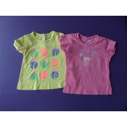 Lot t-shirts Lisa Rose Orchestra fille 2 ans