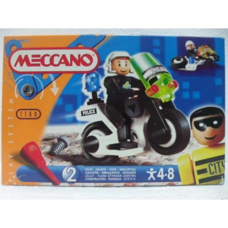 Meccano build play moto de police cod 1100 caillou flacoti - Jeux de motos de police ...